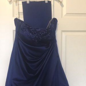 NWT David's Bridal size 16 Navy Dress